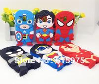 1X Super hero Batman Wonder woman spiderman Soft Silicone Case Cover For Samsung GT-i8190 GALAXY S3 Mini