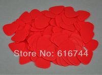 Lots of 100pcs New Standard Guitar Picks Plectrums Celluloid Heavy 1mm Solid Red