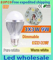 20pcsX Upgrade! The lastest generation 9W LED bulb,DImmable Bubble Ball bulb higher quality lowerprice E27 2 year warranty