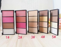 Free shipping multi-function trimming powder palette /bronzer/highlighter/maquiagem/blush/face concealer makeup 5pcs/lot
