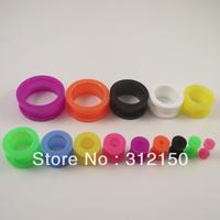 280PCS 14 sizes Wholesale Candy Color Ear Flesh Tunnel Taper Stretchers Ear Plugs Body Piercing Jewelry Acrylic Screw Ear Plug