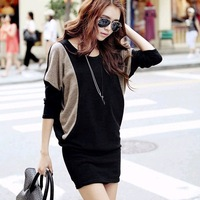 New Fashion knitting WT-004 2014 spring coat for women batwing sleeve sexy loog loose clothes wholesale and retail FREE SHIPPING