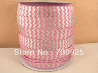 5Y6444 david ribbon free shipping 5/8 '' silver  elastic ribbon minimum order USD 6.00