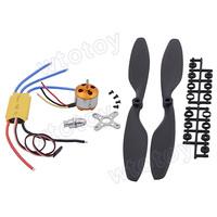 A2212 1000KV Brushless Motor + 30A Brushless ESC + 2 PCS 1045 Counter Rotating Propeller for FPV  21198