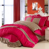Pure cotton Leopart Korean 4pcs bedding sets,bedding sheet sets,duve cover,bed sheet and pillow cases,bedspread,home textiles