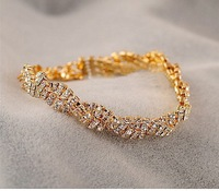 Free shipping more than $15+gift jewelry gentlewomen fashion delicate full rhinestone bling bracelet female bracelet crystal