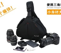 Flyleaf aslant camera bag. The  600 d 5 d2 SLR camera bag. one shoulder digital package triangle bag