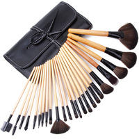 Professional make-up cosmetic brush 24 pcs animal soft wool powder eye shadow disk brush set
