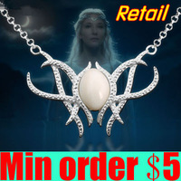 The Hobbit An Unexpected Journey Galadriel Pendant Necklace Lord of The Rings Elf Necklace