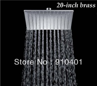 Hot Sale Wholesale And Retail Promotion   Luxury Huge 20 Inch (50cm) Bath Shower Head Wall Mounted Bathroom Square Head