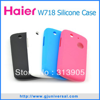 Newest Soft High Quality silicon case for haier w718 cell phone phone case white black