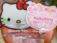 200pcs/lot !Wholesale Fashion Hello Kitty Cartoon Stationery Set School Set for Kids G3122 Free Shipping Via DHL