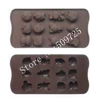 Silicone Chocolate Mold Cake Jelly Candy Ice Cube Mould Animals Shape
