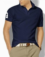 Promotion price only $ 9.99 horse polo men logo fashion polo shirt men 2013 new brand polo pony100% cotton plus size L -xxL