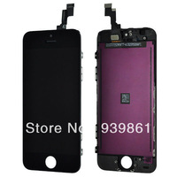 For Black iphone 5C Front Panel LCD + Touch Digitizer Screen Assembly free shipping