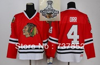 Free Shipping CCM Chicago Blackhawks Throwback Hockey Jerseys Men's #4 Robert Orr Jersey Wholesale Embroidery Logo Mixed Order