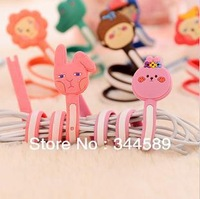 1800A Min order $10 (mix order) free shipping cute animal strip headphone winder wire organizer data lines wrapped thread
