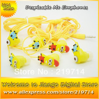 Hot Sell 100 pcs/lot The Newest Despicable Me 3.5mm In-Ear Headphone Earphone Headset For Mobile Phone MP3 MP4