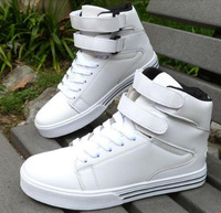 Fashion high-top casual  men's  skateboarding  men's  fashion trend of the attached the skates  shoes