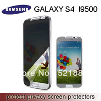 Wholesale 100pcs/lot  Prevent peep Anti-peep screen protector for samsung S4 I9500  Protect privacy (No retail packaging)