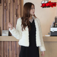 Autumn faux slim outerwear overcoat ladies outerwear fox winter