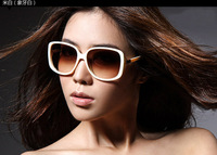(10 pieces/lot) fashion women big frame sunglasses, UV400 lady sunglasses many colors