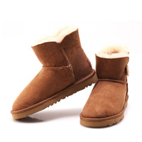 2014 warm winter 100% sheep skin and wool fur snow boots woman 4 colors  woman shoes size US 5-9 Y3352