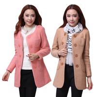 Woolen outerwear 2013 women's o-neck woolen overcoat female outerwear autumn and winter medium-long wool