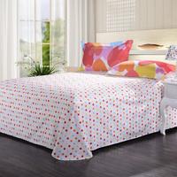 Destina 100% textile cotton print single bed sheet fancy 20 thickening double single sheet