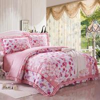 Destina 100% slanting home textile cotton stripe print four piece set 100% cotton princess bedding