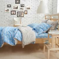 Destina 100% home textile cotton four piece set small fresh stripe 100% piece cotton bedding set