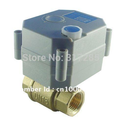 DN15 1/2'' 2Way DC5V electric actuator valve motorized control brass ball valve(China (Mainland))