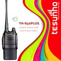 TESUNHO TH-850PLUS high power quality wide range best 10w professional walkie talkie 15km