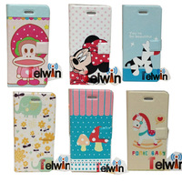 New Arrival Cartoon Lovely elephant Trojan Style PU  Flip Leather Case For iPhone 5 5S 5C With Stand Skin Cover Case