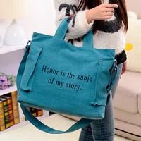 Women's canvas handbag fashion shoulder bag handbag messenger bag canvas women's bags big bags
