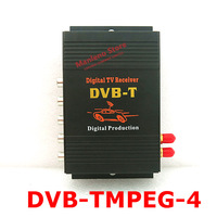 Free shipping Car digital TV Box DVB-T MPEG4 receiver include DVB-T MPEG2 and DVB-T MPEG4 H.264 Two TV Tuner