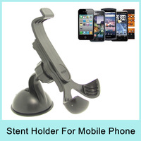 Universal 360 Degree Rotation Car Holder Stent Windshield Mobile Phone Mount Holder For iPhone/Samsung Galaxy/HTC Drop Shipping