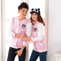 Free Shipping Women 802 lovers autumn fleece sweatshirt baseball uniform class service