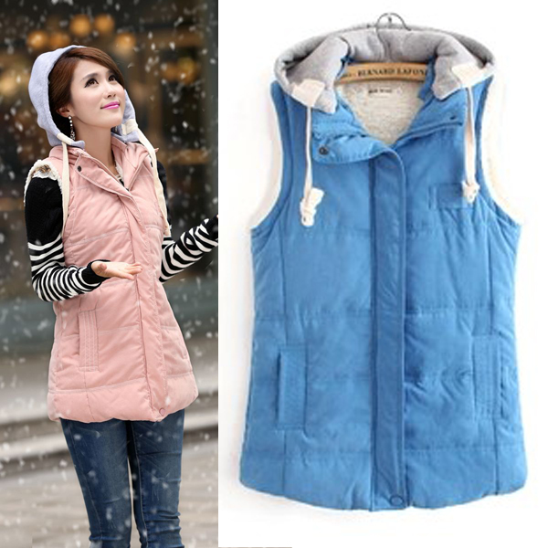 free shpping 2013 autumn plus size clothing thickening casual spring and autumn cotton vest vest Women mm(China (Mainland))