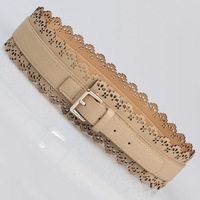 free shipping Hot-selling OCHIRLY laser decorative pattern wide belt cutout laciness cummerbund women's fashion all-match belt
