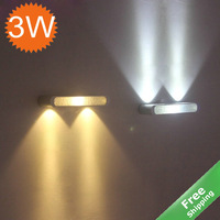LED wall lamp decorative light + 3W + 85-240V +Free shipping