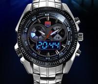 Free Shipping 2013 TVG military watch fashion men's watch LED waterproof watch 30AM