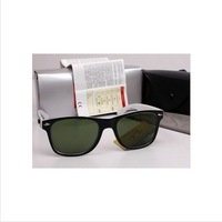 Hot Selling Men's/Woman's Glasses RB 2140 WAYFARER Sunglasses Black Frame Green Lens with Free Shipping