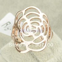 wholesale Italina rigant channel women fashion rose flower jewelry 18K gold ring HOT SALE