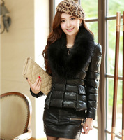 free shipping women coats winter fashion 2013 short design large collar thermal down coat women wadded jacket YRF0002