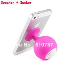 Portable Mini Sucker Speaker for iPad iPhone 4 4s 5 5c 5s Samsung GALAXY S3 S4 Note 2 3 Nokia 920, Valentine's Gift,50 pcs
