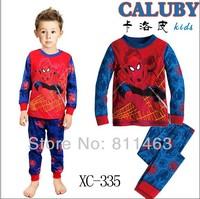 hot selling baby boys  long sleeve pajamas # XC-335 / children sleepwear / kids clothing set