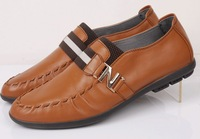 New Men's Casual Driving Comfort Shoes Moccasins Loafers Slip On Eur size 37 to 44 Retail/wholesale Free shipping