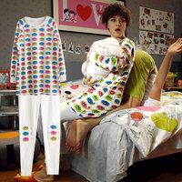 Sleepwear autumn sleepwear long-sleeve 100% cotton casual lounge set