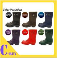 2013 Fashion Short Rain Boots Waterproof  Women Wellies Boots Women Rainboots Woman Water Shoes 6 Color